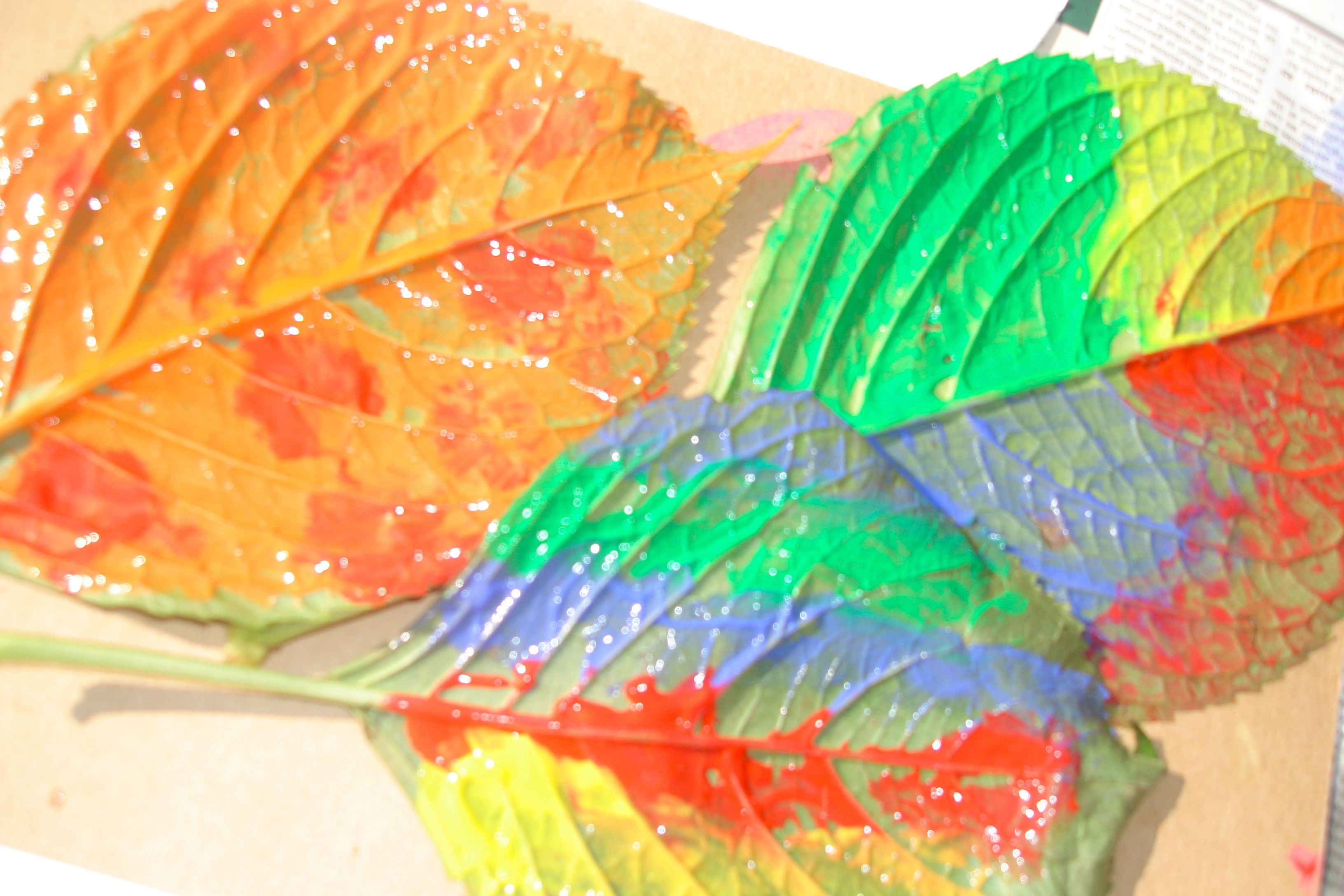 Poetry and Leaf Painting: We Too Can Make Beautiful Colors ...
