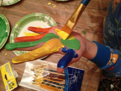 A Bounce hand paint