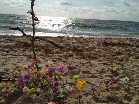 Easter beach cross